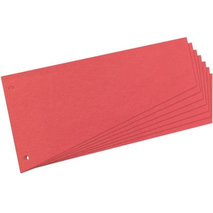herlitz Trennstreifen, trapezförmig, Manila-Karton, rot
