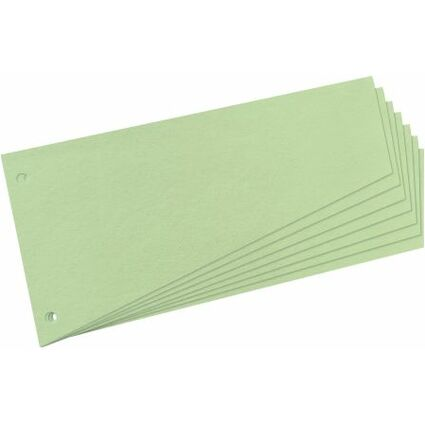 herlitz Trennstreifen, trapezförmig, Manila-Karton, grün