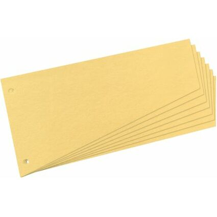 herlitz Trennstreifen, trapezförmig, Manila-Karton, gelb