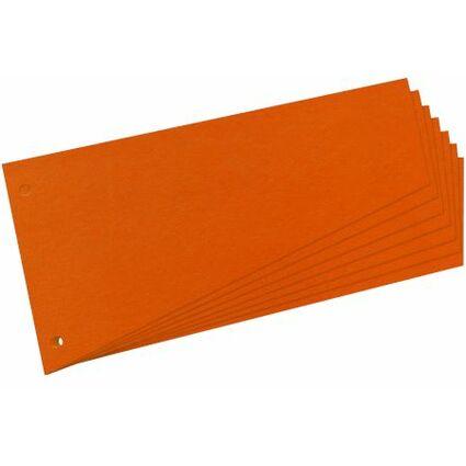 herlitz Trennstreifen, trapezförmig, Manila-Karton, orange