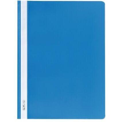 herlitz Schnellhefter, DIN A4, aus PP-Folie, hellblau