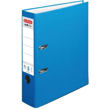 herlitz Ordner maX.file nature plus, Rückenbr.: 80 mm, blau
