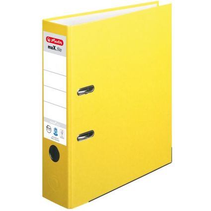 herlitz Ordner maX.file nature plus, Rückenbr.: 80 mm, gelb