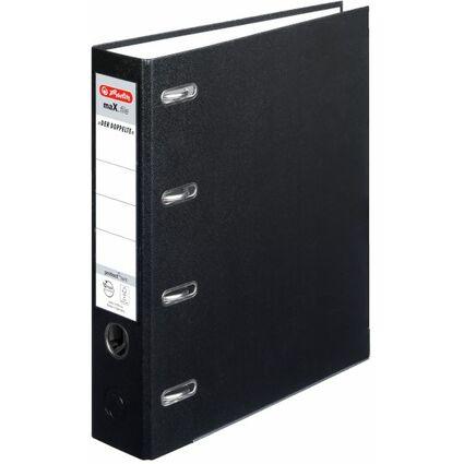 herlitz PP-Doppelordner maX.file, Rückenbreite:70mm, schwarz