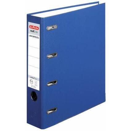 herlitz PP-Doppelordner maX.file, Rückenbreite: 70 mm, blau