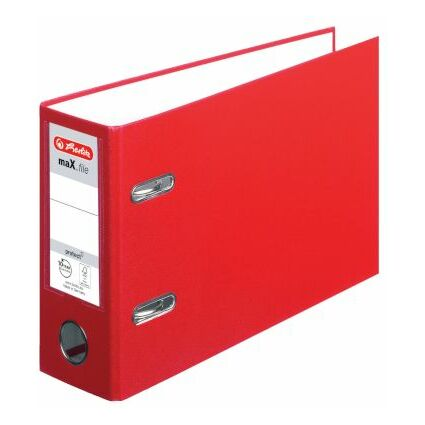 herlitz PP-Ordner maX.file protect, A5 quer, rot