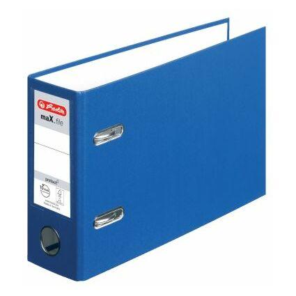 herlitz PP-Ordner maX.file protect, A5 quer, blau