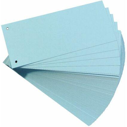 herlitz Trennstreifen, für DIN A4, Manila-Karton, blau