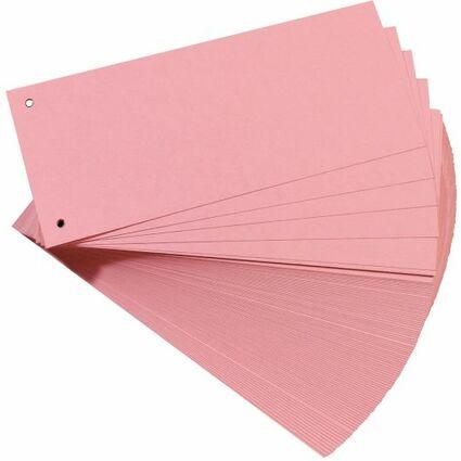 herlitz Trennstreifen, für DIN A4, Manila-Karton, rosa