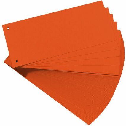 herlitz Trennstreifen, für DIN A4, Manila-Karton, orange