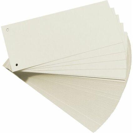 herlitz Trennstreifen, für DIN A4, Manila-Karton, weiß