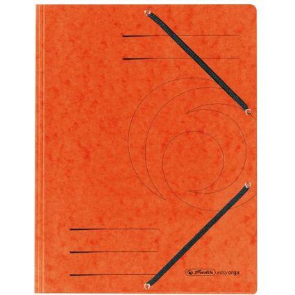 herlitz Eckspannermappe easyorga, DIN A4, orange