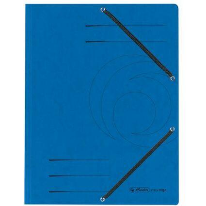 herlitz Eckspannermappe easyorga, DIN A4, blau