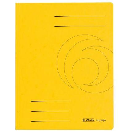 herlitz Sammelmappe easyorga, A4, Colorspan-Karton, gelb