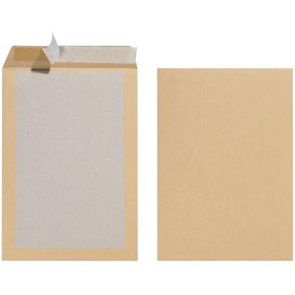 herlitz Versandtasche mit Papprücken B4, ohne Fenster, braun