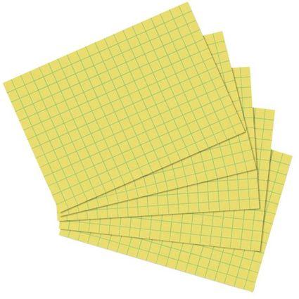 herlitz Karteikarten, DIN A6, kariert, gelb