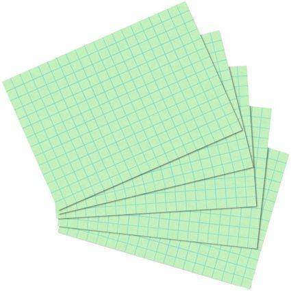 herlitz Karteikarten, DIN A6, kariert, grün