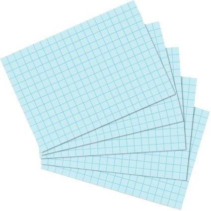 herlitz Karteikarten, DIN A7, kariert, blau