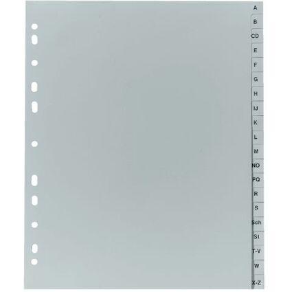 herlitz Kunststoff-Register, A-Z, A4 Überbreite, 20-teilig