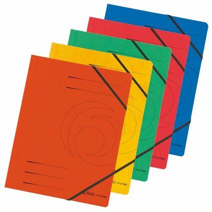 herlitz Eckspanner easyorga, A4, Colorspan-Karton, sortiert