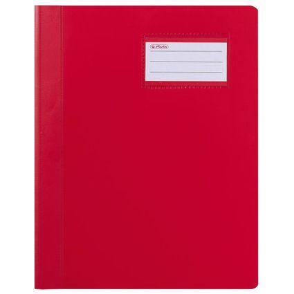 herlitz Schnellhefter Exclusiv, DIN A4, PVC-Folie, rot