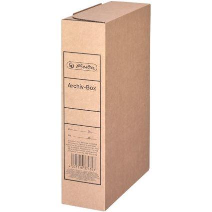herlitz Archiv-Schachtel, DIN A4, Vollpappe, braun