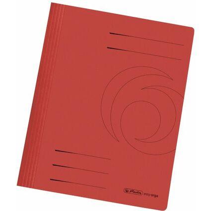 herlitz Schnellhefter easyorga, DIN A4, Manilakarton, rot