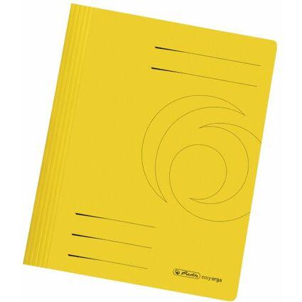 herlitz Schnellhefter easyorga, DIN A4, Manilakarton, gelb