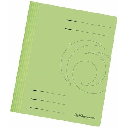 herlitz Schnellhefter easyorga, DIN A4, Manilakarton, grün