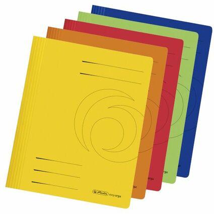 herlitz Schnellhefter easyorga, DIN A4, Manilakarton, farbig