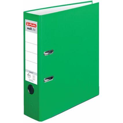 herlitz Ordner maX.file protect, Rückenbr.: 80 mm, hellgrün