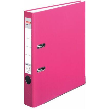 herlitz Ordner maX.file protect, Rückenbr.: 50 mm, pink