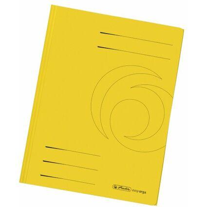 herlitz Sammelmappe easyorga, DIN A4, Manilakarton, gelb