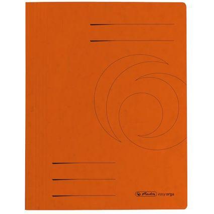 herlitz Schnellhefter easyorga, A4, Colorspankarton, orange