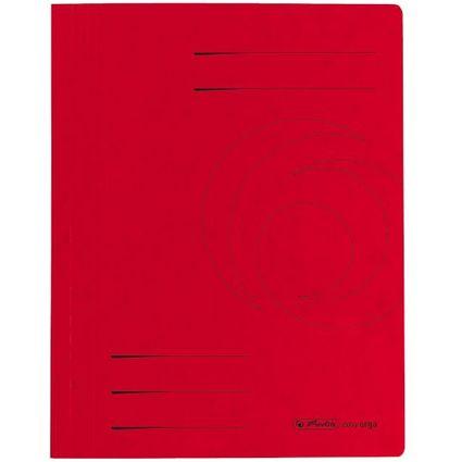 herlitz Schnellhefter easyorga, A4, Colorspankarton, rot