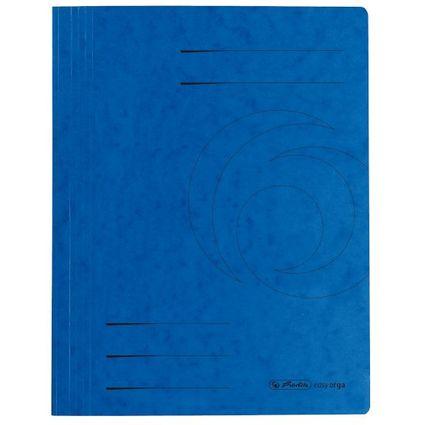 herlitz Schnellhefter easyorga, A4, Colorspankarton, blau