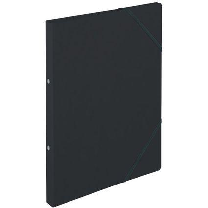 herlitz Ringhefter easyorga, A4, Colorspan-Karton, schwarz