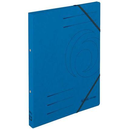 herlitz Ringhefter easyorga, A4, Colorspan-Karton, blau