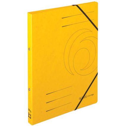 herlitz Ringhefter easyorga, A4, Colorspan-Karton, gelb