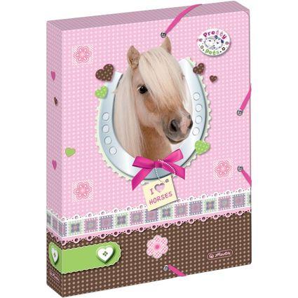 """herlitz Heftbox Pretty Pets """"Pferd"""", DIN A4, aus PP"""