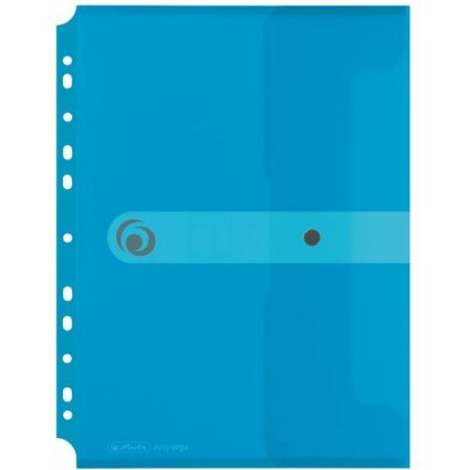 herlitz Dokumententasche easy orga to go, transparent-blau
