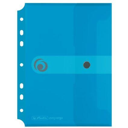 herlitz Dokumententasche easy orga to go, transparent-blau