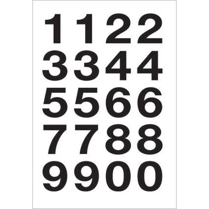 herlitz Zahlen-Sticker 0-9, Folie schwarz, Höhe: 20 mm