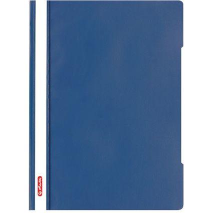"""herlitz Schnellhefter """"Quality"""", DIN A4, PP-Folie, blau"""