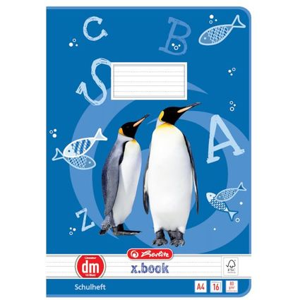 herlitz Schulheft x.book, DIN A4, Lineatur dm / liniert