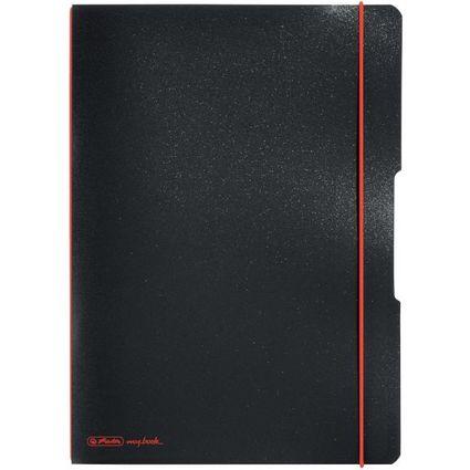 herlitz Notizheft my.book flex, A4, PP-Cover, schwarz