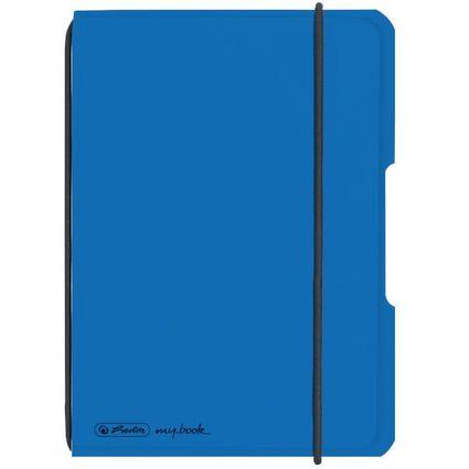 herlitz Notizheft my.book flex, A6, PP-Cover, blau