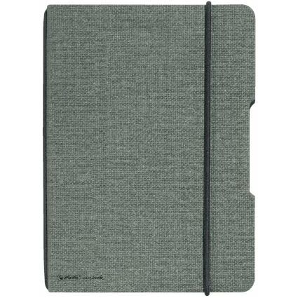 herlitz Notizheft my.book flex, A5, Leinen-Cover, grau