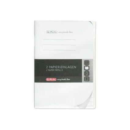 herlitz Papier-Ersatzeinlagen für Notizheft my.book flex, A6