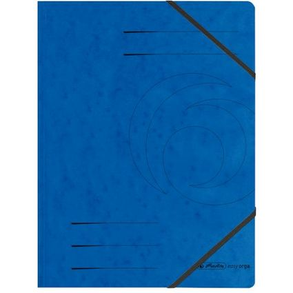 herlitz Eckspanner easyorga, A4, Colorspan-Karton, blau